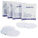 Representative photo only Advantec Sterile Mixed Cellulose Ester Filter Membranes 47mm dia 0 45m absorbent pads not included gridded surface 1000 pack packaged individually 