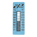 EW-08068-22 Eight-Point temperature indicating labels; temperature points 160-230°F (71-110°C), 25 pk