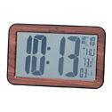 EW-08683-01 Radio-Controlled Large-Digit Wall/Bench Clock, Wood grain