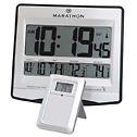 EW-08683-25 Radio-Controlled Clock with Wireless Temperature Remote