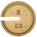 Troemner Metric Slotted Weights with Statement of Accuracy 1KG 5 dia (Representative photo only)