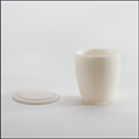 EW-17804-07 Representative photo only. CoorsTek<small><sup>®</sup></small> High-Form Crucible, High Alumina; 100ml