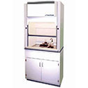 EW-33731-00 30 inch Compact fume hood with dished work surface, vapor proof light and built-in blower 115 VAC/60 Hz