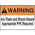 Representative photo only Warning Arc Flash and Shock Hazard Appropriate PPE Required 5 x 7