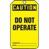 Representative photo only Tag Caution Do Not Operate Back B 5 7 8 X 3 3 8 RV Plastic