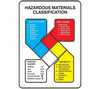 "WZ-41010-01 NFPA Hazardous Materials Classification, Sign Only, 14"" X 10"", plastic"