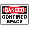 WZ-41014-51 Safety Sign, Danger - Confined Space, 10