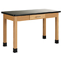 Representative photo only Wood Laboratory Table with Epoxy Top 36 x 30 x 36H