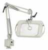 Representative photo only Wide View Dimmable Illuminated Magnifier 25 reach 3 diopters table clamp