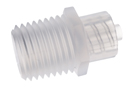 Representative photo only Adapter polypropylene male luer to 1 4 18 thread 25 pack