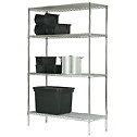 Gillis LPI Chrome Wire Adjustable Shelf Starter Unit 18 W x 36 L x 72 H (Representative photo only)