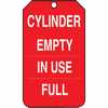 Representative photo only Tag Cylinder Empty In Use Full 5 7 8 X 3 3 8 RV Plastic