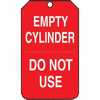 Representative photo only Tag Empty Cylinder Do Not Use 5 7 8 X 3 3 8 RV Plastic