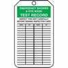 """WZ-50503-30 Tag, Emergency Shower & Eye Wash Test Record, 5 7/8"""" X 3 1/8"""", PF-Cardstock"""