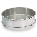 Receiving Pan with Fitted Rim for Nesting 8 Stainless Steel Sieves Half Height (Representative photo only)