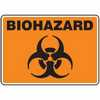 Representative photo only Safety Sign Biohazard 7 X 10 Adhesive Vinyl