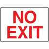 Safety Sign No Exit 7 X 10 Adhesive Vinyl (Representative photo only)