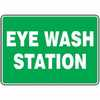 EW-61014-58 Safety Sign, Eye Wash Station, 10 X 14, Adhesive Vinyl