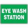 Safety Sign Eye Wash Station 7 X 10 Adhesive Vinyl (Representative photo only)