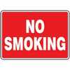WZ-61014-82 Safety Sign, No Smoking (white/red), 10 X 14, Adhesive Vinyl