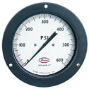 Spriahelic 4 1/2&quot; Direct Drive Pressure Gauge, 30 psi, 1/4&quot; NPT(F) Bac