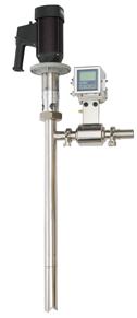 EW-75220-60 Sanitary Drum Pump & Flow Meter Pacakge, 3A, 110 VAC/50Hz, 1HP TEFC, 12 GPM (45 LPM), 300 cps