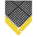 EW-81850-22 Black rubber mat Squares shown with Yellow rubber edge pieces