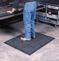 Ortho Stand Antifatigue Mat 2 x3 color black and yellow (Representative photo only)