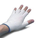 Representative photo only Glove liners half fingered x large 12 pairs pk