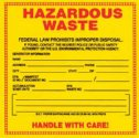 WZ-86463-00 Label, Hazardous Waste, 25/pk