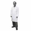 Representative photo only META Fluid Resistant Men s Lab Coat White 40 L Large
