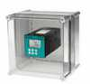 Representative photo only Cole Parmer Polycarbonate Enclosure With Cutout For One 1 4 Din Meter controller 11 w X 11 d X 7 1 h