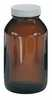 Cole Parmer Precleaned EPA Amber Wide Mouth Bottle 500 mL (Representative photo only)