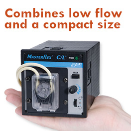 C/L Series Masterflex pump, compact low flow