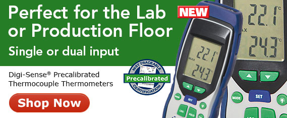 Digi-Sense Precalibrated Thermocouple Thermometers