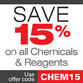 Save 15% off chemicals
