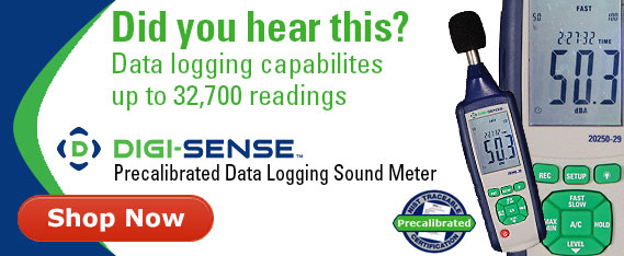 Precalibrated data logging sound meter