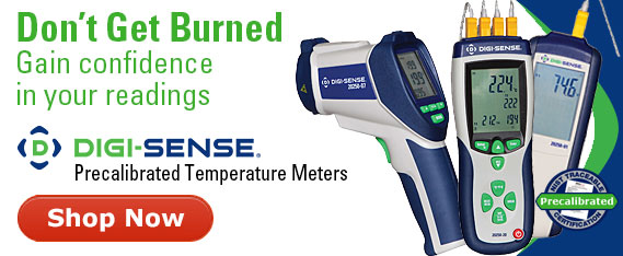 Digi-Sense precalibrated temperature meters