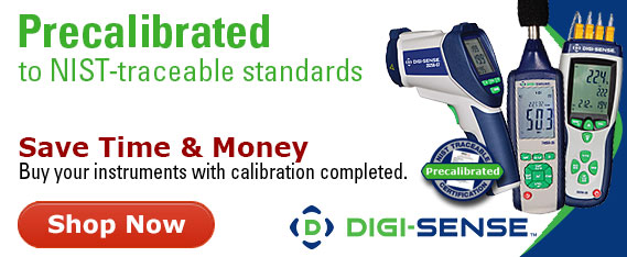 Buy instruments precalibrated and save time and money