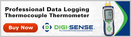 Digi-Sense Precalibrated Professional Thermocouple Thermometers