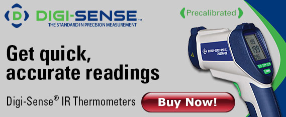 Digi-Sense IR Thermometers Get quick, accurate readings