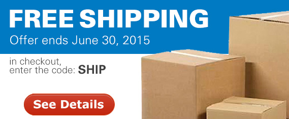 Free shipping offer ends June 30th