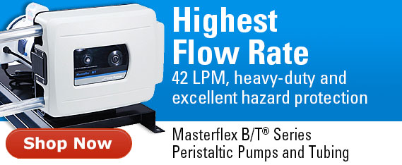 Masterflex B/T pumps and tubing- 42 LPM