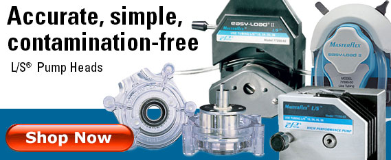 Masterflex L/S pump heads - accurate simple contamination free