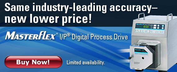 NEW Masterflex I/P digital process drive- accuracy at a new lower price