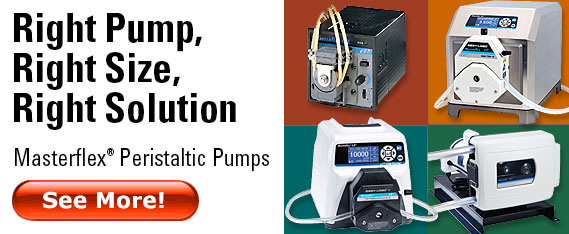 Masterflex Peristaltic Pumps - simple, durable, versatile
