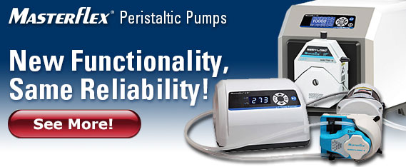 New Masterflex peristaltic pumps
