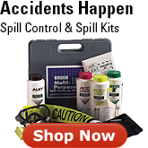 Be prepared with spill control supplies