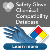 Choose the right glove for the chemicals you handle