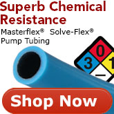 Masterflex LS Precision Solve-Flex Pump Tubing for Superb chemical resistance